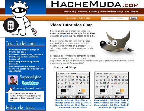 VIDEO-TUTORIALES de EL GIMP