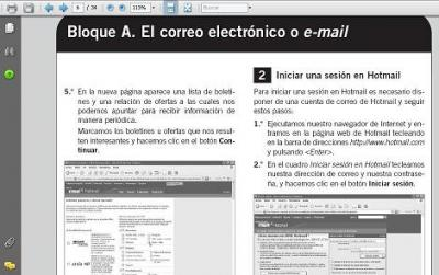 HOTMAIL, WORLD WIND, POWERPOINT, IMPRESS Y WINZIP en SANTILLANA