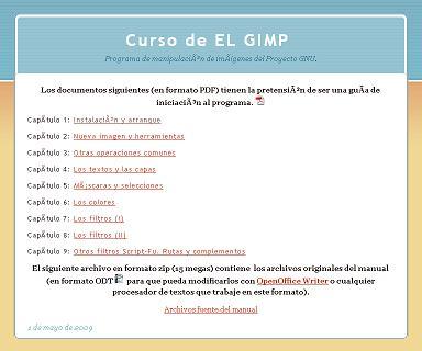 CURSO de EL GIMP