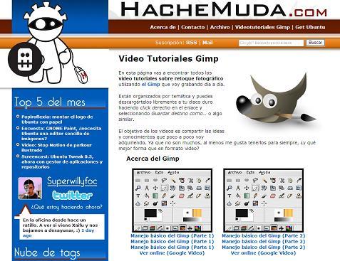 VIDEO-TUTORIALES de EL GIMP