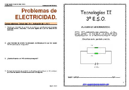 EJERCICIOS DE ELECTRICIDAD 3º ESO